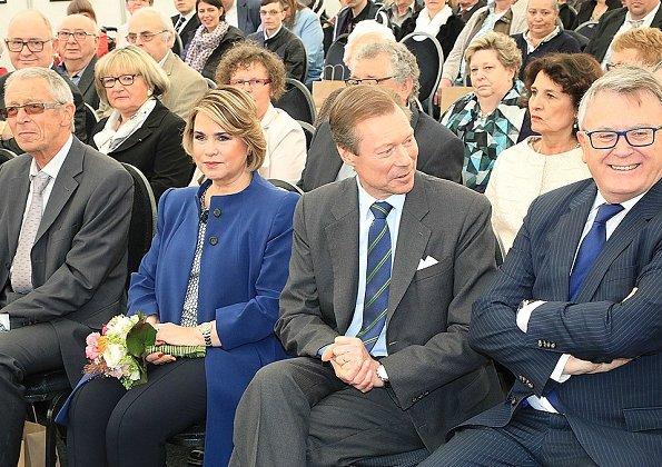 Grand Duke Henri and Grand Duchess Maria Teresa attended celebrations of 50th anniversary of establishment of APEMH Foundation at Bettange Castle