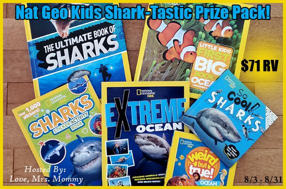 Nat Geo Kids Shark-tastic Prize Pack Giveaway