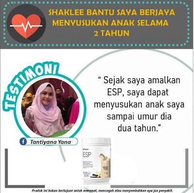 Testimoni ESP untuk ibu menyusu