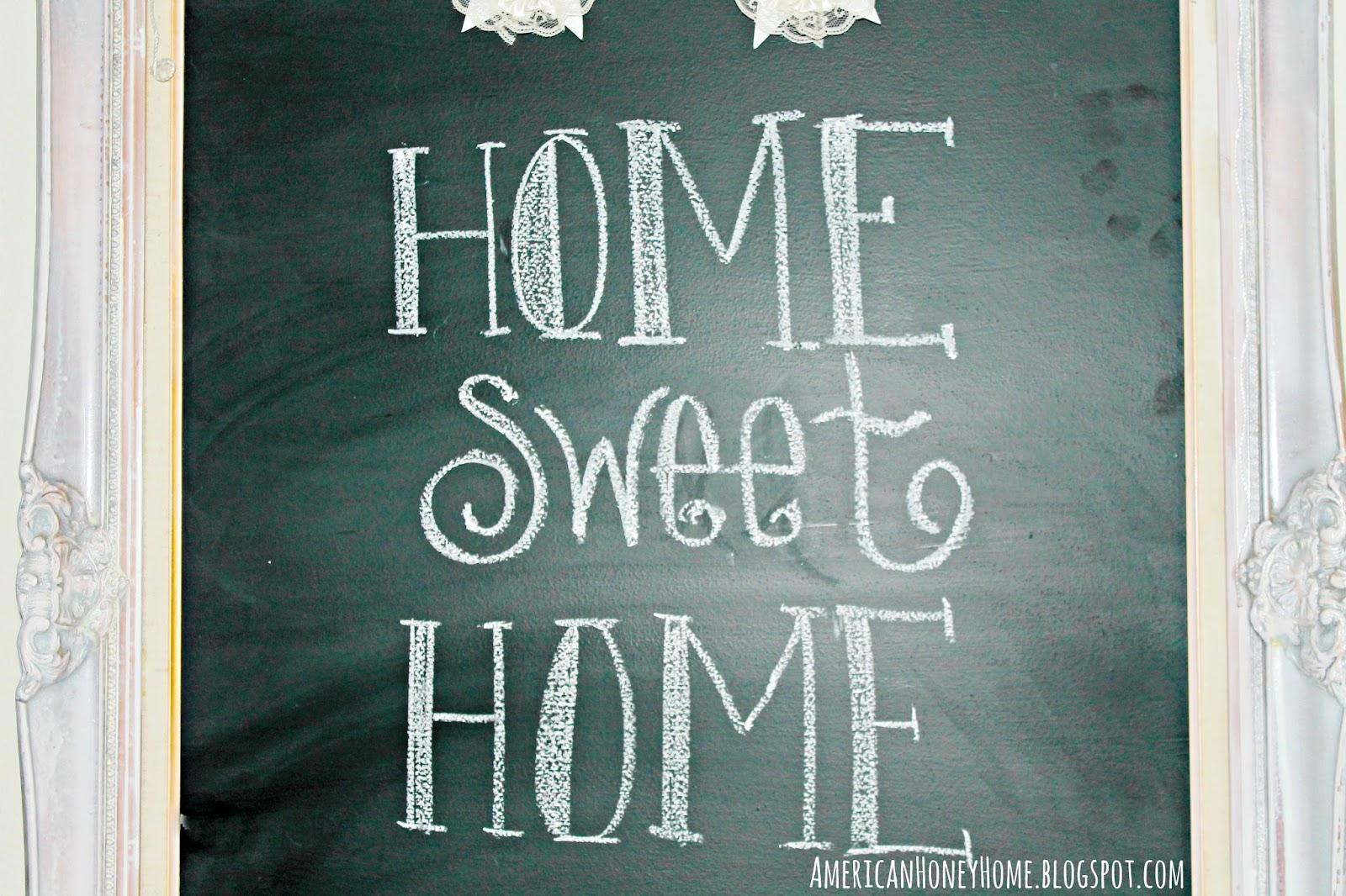 American Honey Home: Framed Chalkboard