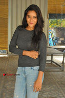 Actress Bhanu Tripathri Pos in Ripped Jeans at Iddari Madhya 18 Movie Pressmeet  0065.JPG