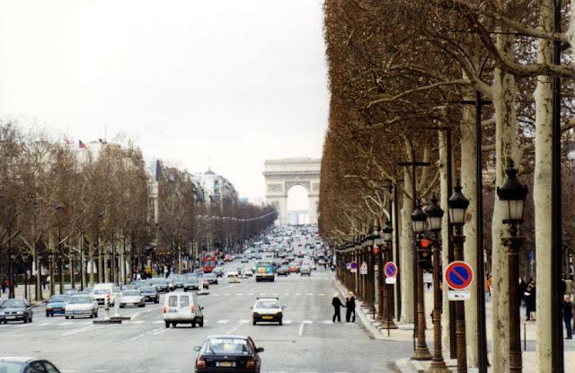 Champs Elysee no inverno em Paris