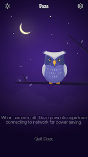 Doze Application Home Screen