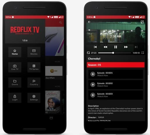 RedFlix TV Android App 2019 Download, | Live Tv Channels In Android