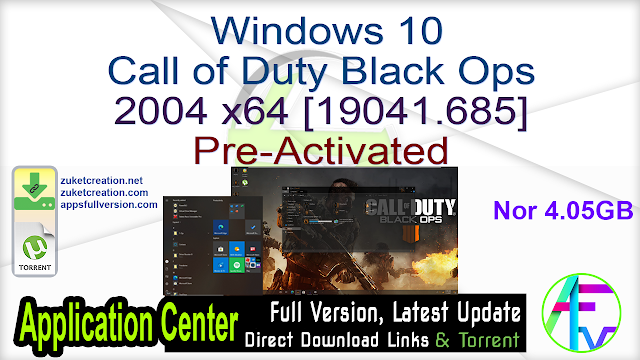 Windows 10 Call of Duty Black Ops 2004 x64 [19041.685] Pre-Activated