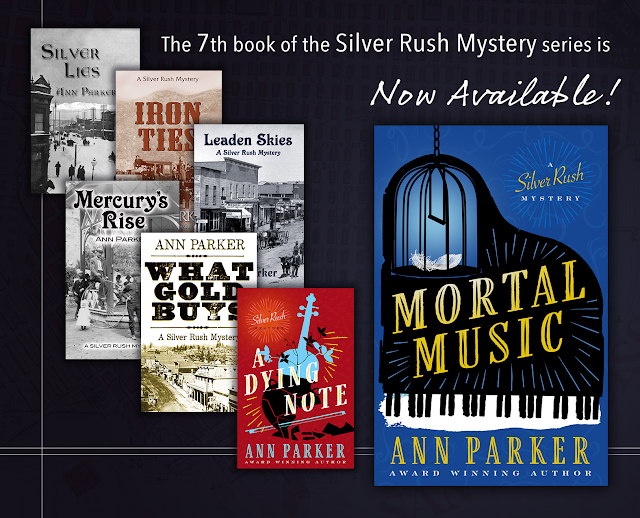 Silver Rush series covers with newest, Mortal Music, prominent