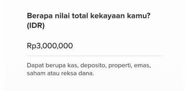Pertanyaan Total Kekayaan