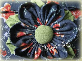 Текстильный цветок канзаши