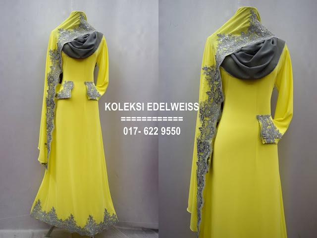 Baju kahwin Baju Tunang NIkah Simple Warna Kuning