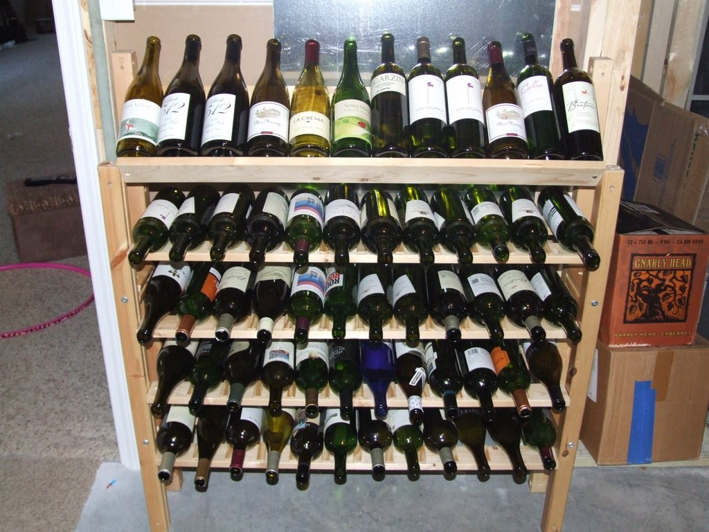 IKEA Hack Wine Rack