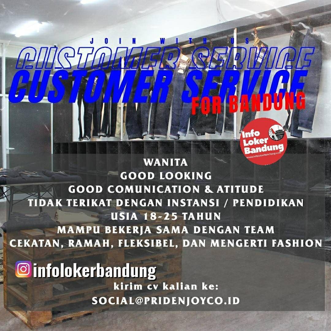 Lowongan Kerja Customer Service Pride N Joy Bandung Maret 2020