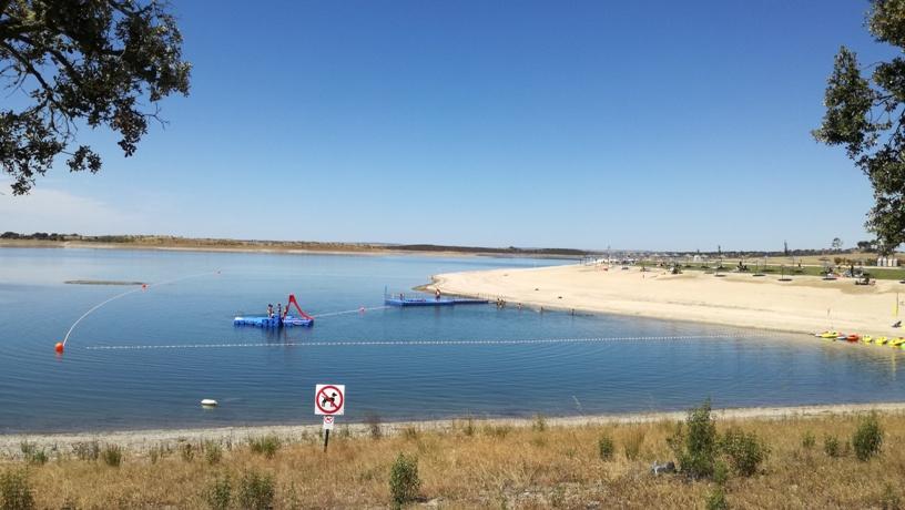 Lago do Alqueva  em Mourão