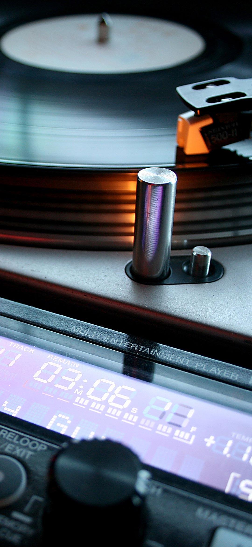 خلفية قارئ اسطوانات صوتية قديمة