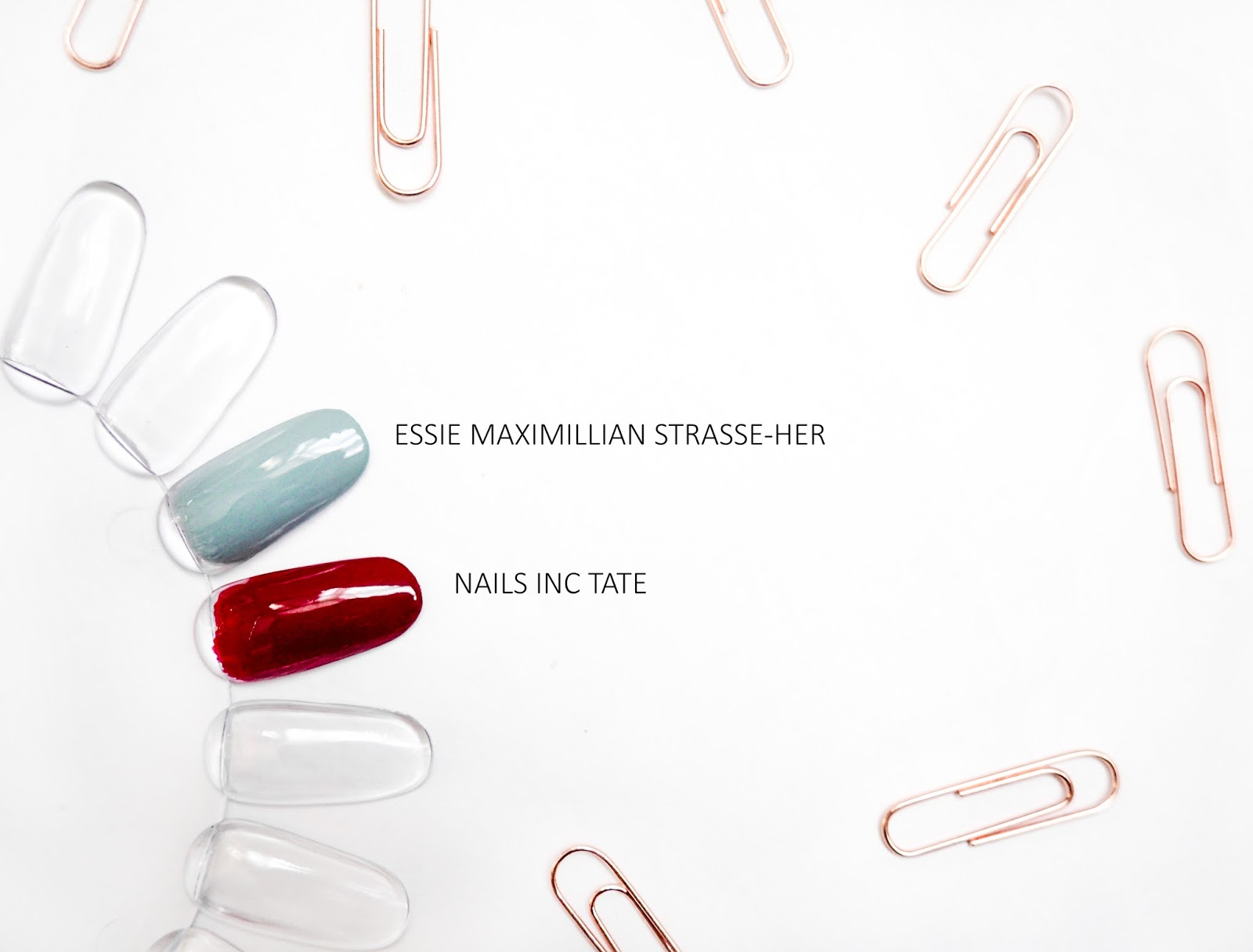 Nails Inc Tate Essie Maximillian Strasse-Her Swatches