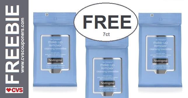 FREE Neutrogena Makeup Remover Wipes 630-76