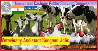 JKPSC Recruitment 2019 for 200 Veterinary Assistant Surgeons Posts