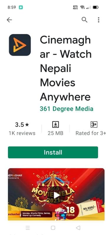 Download Cinemaghar gold app