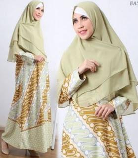 Model Gamis muslim Lebaran 2017