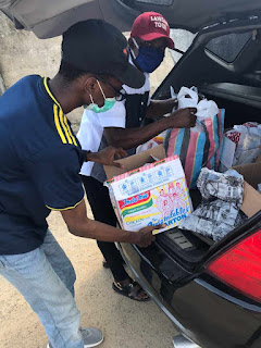 Covid 19 Outreach: lawsan distributes foodstuffs and relief materials