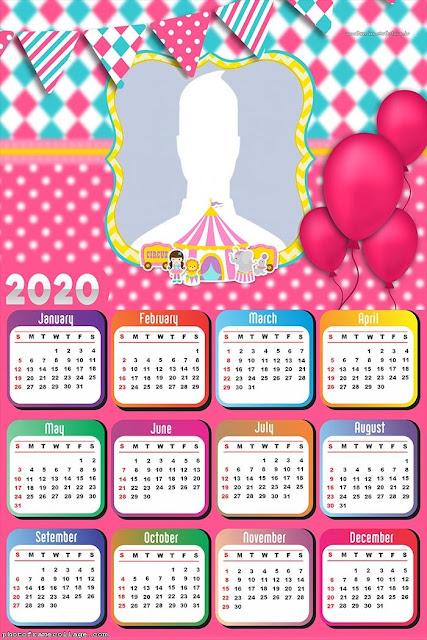 Circus: Free Printable 2020 Calendar