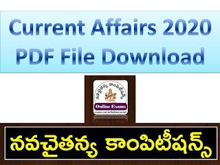 Current Affairs 2020 - Practice Bits pdf Download
