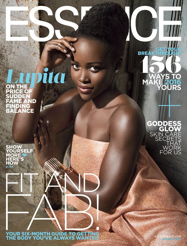 Actress Lupita Nyong'o glows for Essence Magazine's January Issue