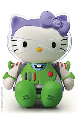 Hello Kitty con diferentes atuendos.