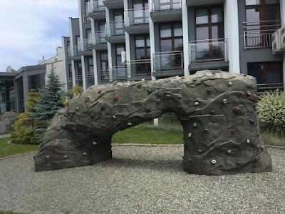 Hotel Diament w Ustroniu, ścianka wspinaczkowa dla dzieci