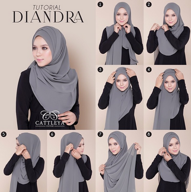 Cara Memakai Hijab Modern Instan Dan Praktis