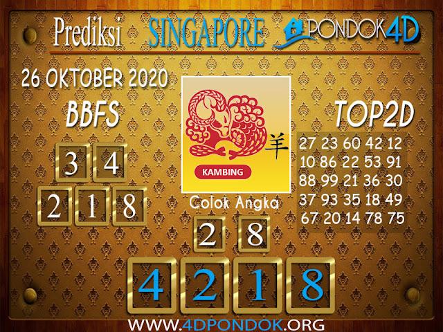 Prediksi Togel SINGAPORE PONDOK4D 26 OKTOBER 2020