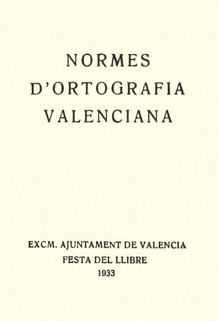 Normes de Castelló, 1933, ortografia valencià