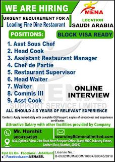 Fine Dine Restaurant Demand for Saudi Arabia