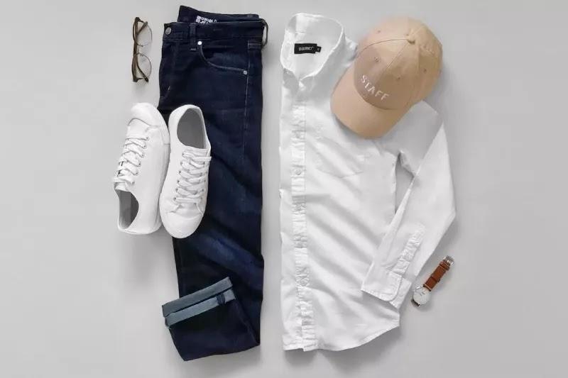 White with dark blue
