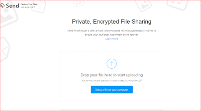 أرسال الملفات الكبيرة بشكل آمن عبر أداة فايرفوكس