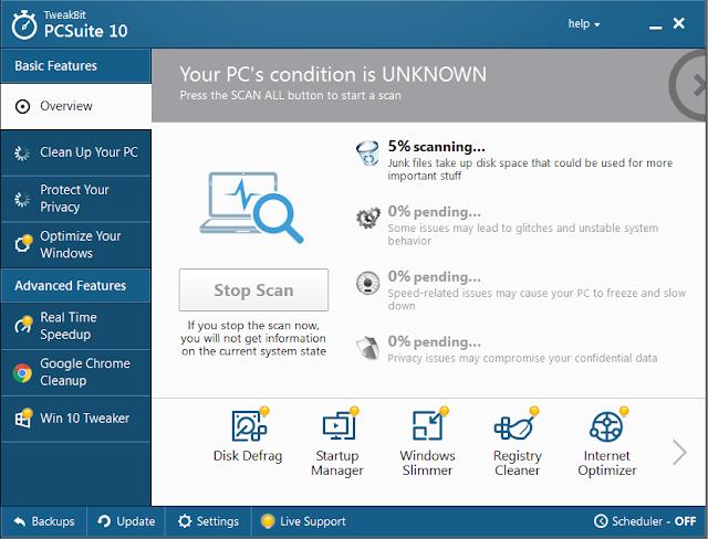 Screenshot TweakBit PCSuite 10.0.24.0 Full Version