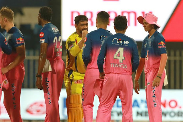 IPL 2020: CSK VS RR, राजस्थान की रॉयल जीत, 216 रन बनाकर चेन्नई सुपरकिंग्स को 16 रन से दी शिकस्त।