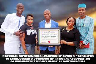Engr. Odumodu Honoured National Outstanding Leadership Award By University Students