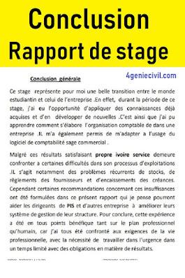 conclusion rapport de stage pdf