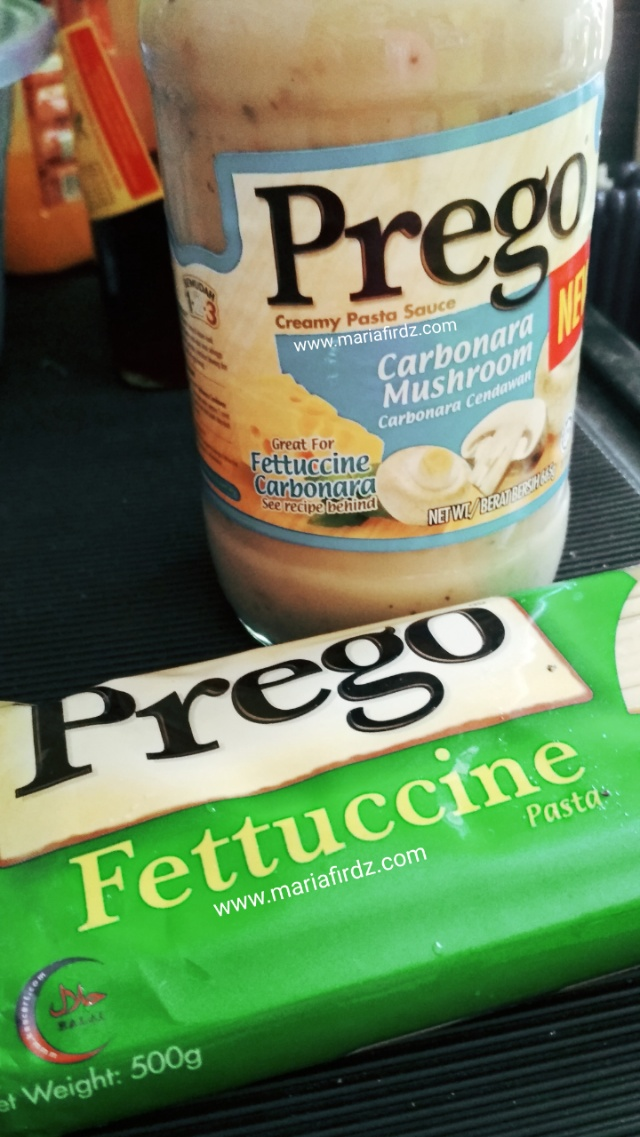 Prego Fettuccine Carbonara Mushrooms, Semudah 1, 2, 3