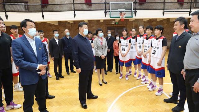 Image Attribute: Chinese President Xi Jinping at Tsinghua University (April 19, 2021) / Source: CGTN