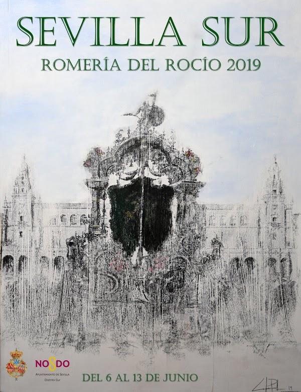 Cartel de la Romería de la Virgen del Rocío del Sevilla Sur