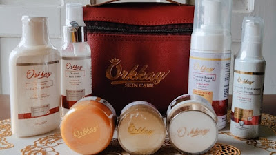 premium white glow orkkay skincare untuk mencerahkan dan merawat kulit