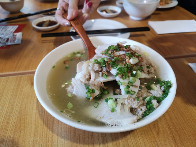 Batang fish soup + mince meat