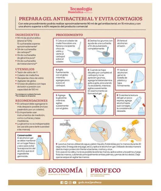 como hacer gel antibacterial casero facil