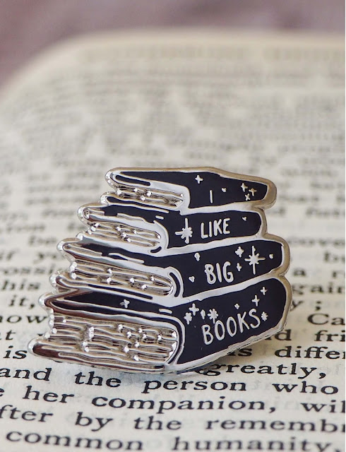 I Like Big Books Enamel Pin