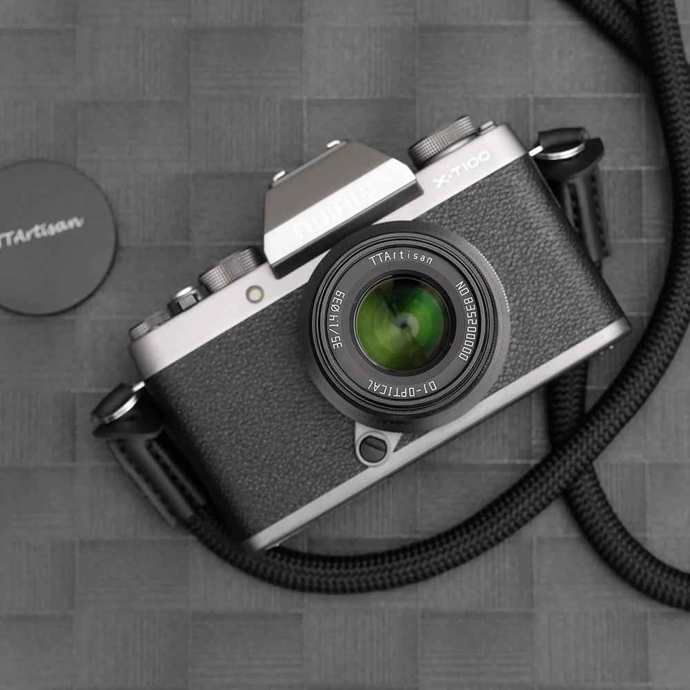 Объектив TTartisan 35mm f/1.4 с камерой Fujifilm