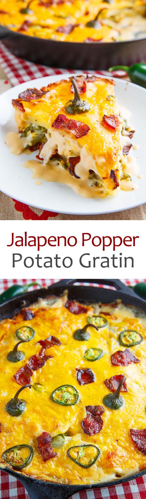Jalapeno Popper Potato Gratin