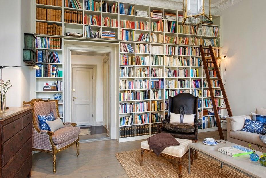 Bello interior de una antigua casa estilo shabby chic - Decoracion interior casa ...