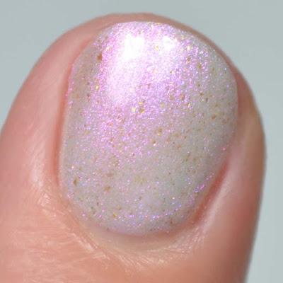 iridescent shimmer nail polish swatch