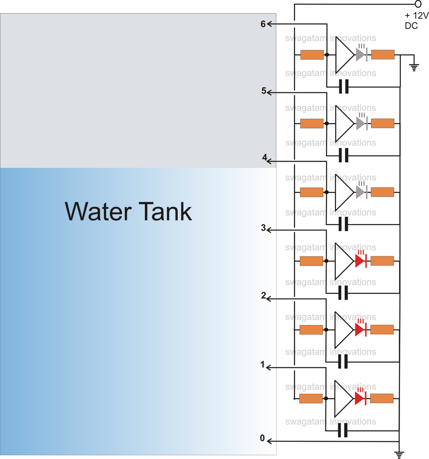 Liquid Level Controller Circuit Diagram Octopus Water Vascular System Tank Gauge Schematic Get Free Image About